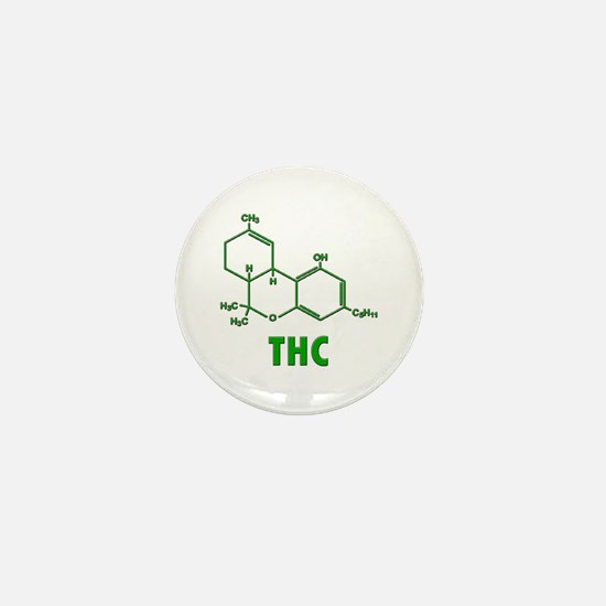 THC Molecule Mini Button