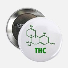 "THC Molecule 2.25"" Button"