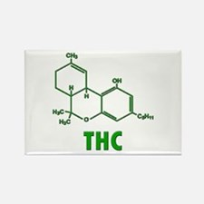THC Molecule Rectangle Magnet