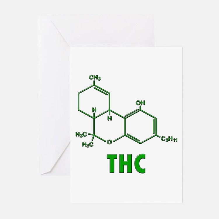 THC Molecule Greeting Cards (Pk of 20)