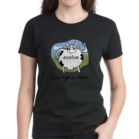Evolve to Vegan Women's Dark T-Shirt