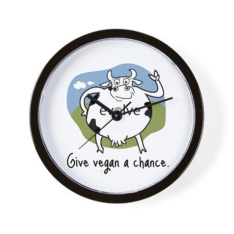 Evolve to Vegan Wall Clock