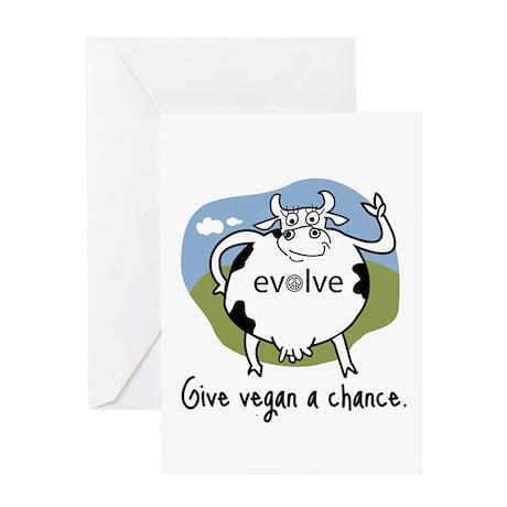 Evolve to Vegan Greeting Card