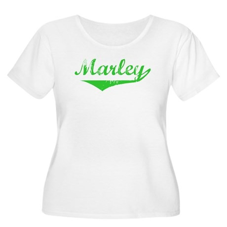 Marley Vintage (Green) Women's Plus Size Scoop Nec