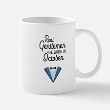 Real Gentlemen are born in October Ce706 Mugs