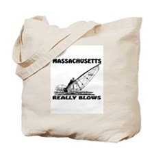 MASSACHUSETTS REALLY BLOWS Tote Bag