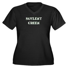 Soylent Green Women's Plus Size V-Neck Dark T-Shir