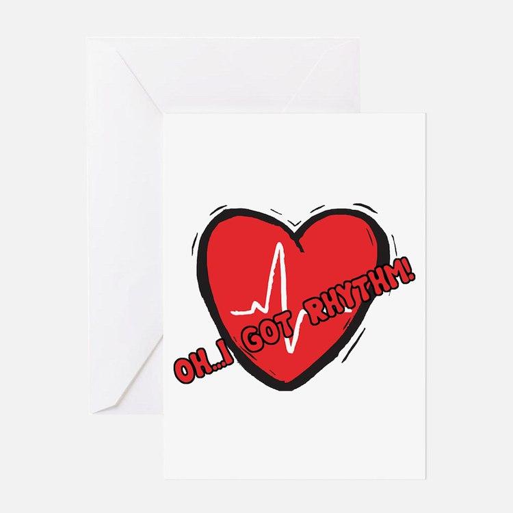 Cardiac Rhythm Greeting Card