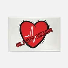 Cardiac Rhythm Rectangle Magnet