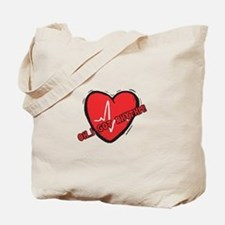 Cardiac Rhythm Tote Bag