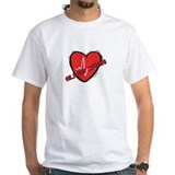 Cardiac Mens White T-shirts
