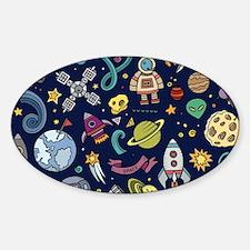 Cartoon Space Explorer Birthday Kids Theme Decal