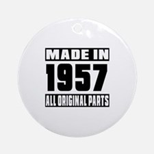 Made In 1957 Round Ornament