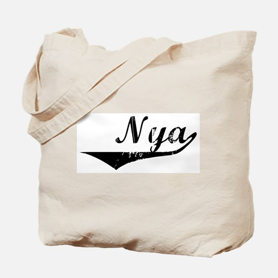 Nya Vintage (Black) Tote Bag