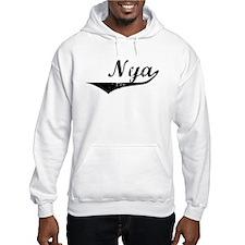 Nya Vintage (Black) Hoodie Sweatshirt