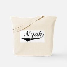 Nyah Vintage (Black) Tote Bag