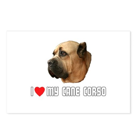I Love My Cane Corso Postcards (Package of 8)