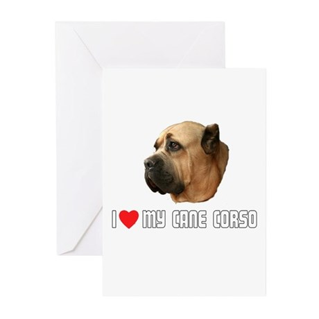 I Love My Cane Corso Greeting Cards (Pk of 10)