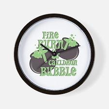 Cauldrom Bubble Wall Clock