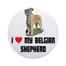 I Love My Belgian Shepherd Ornament (Round)