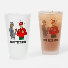 Baseball Umpire And Coach Drinking Glass