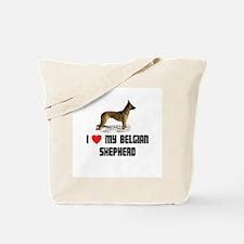 I Love My Belgian Shepherd Tote Bag