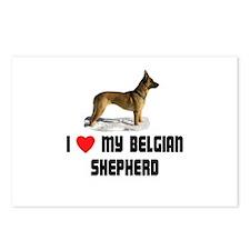 I Love My Belgian Shepherd Postcards (Package of 8
