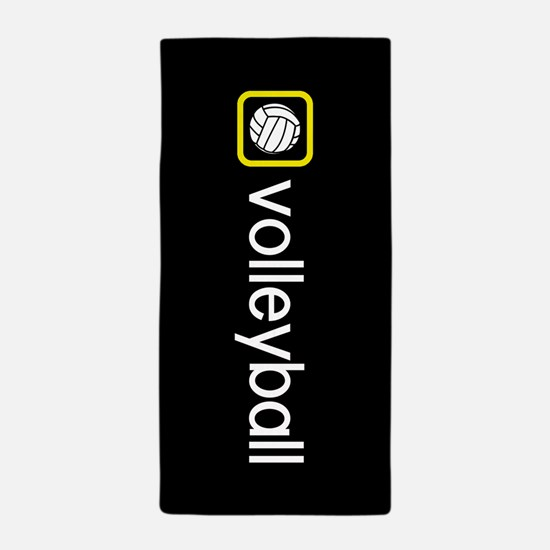 Volleyball (Yellow) Beach Towel