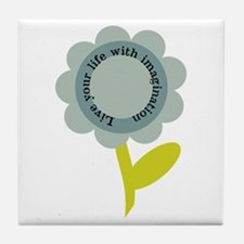 Live Your Life Tile Coaster