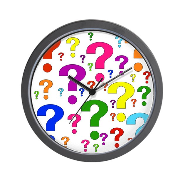 Rainbow Question Marks Wall Clock by ursinelogic