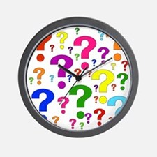 Rainbow Question Marks Wall Clock