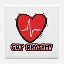 Got Cardiac Rythm? Tile Coaster