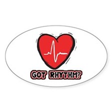 Got Cardiac Rythm? Oval Decal