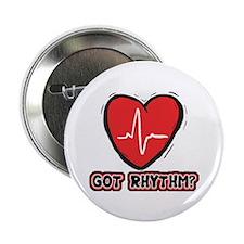 "Got Cardiac Rythm? 2.25"" Button (10 pack)"