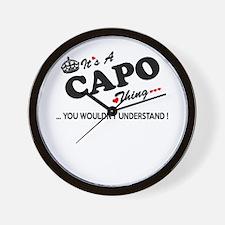 Cute Capo Wall Clock