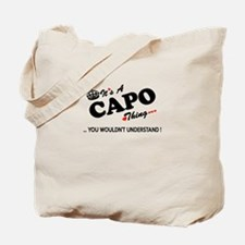 Unique Capo Tote Bag
