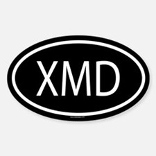 XMD Oval Decal