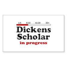 Dickens Scholar Rectangle Decal
