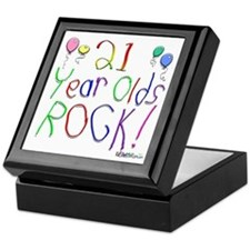 21 Year Olds Rock ! Keepsake Box