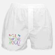 21 Year Olds Rock ! Boxer Shorts