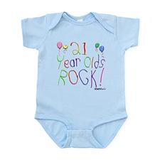 21 Year Olds Rock ! Infant Bodysuit