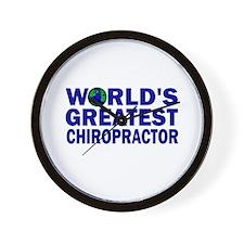 World's Greatest Chiropractor Wall Clock