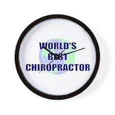 World's Best Chiropractor Wall Clock