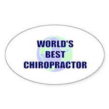 World's Best Chiropractor Oval Decal
