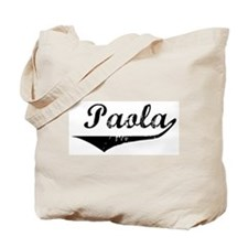 Paola Vintage (Black) Tote Bag