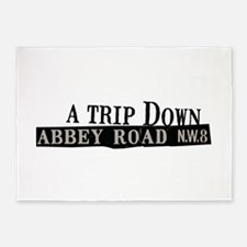 Trip Down Abbey Road 5'x7'Area Rug
