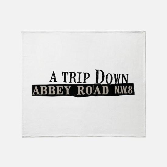 Trip Down Abbey Road Throw Blanket