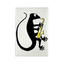 Gecko Saxophone Rectangle Magnet