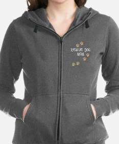 Cute Rescue mom Women's Zip Hoodie