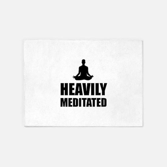 Heavily Meditated 5'x7'Area Rug
